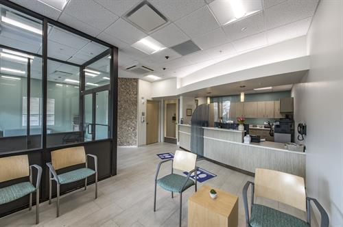 Inside the new waiting room at Ellen Jones Community Dental Center.