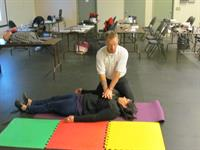 Owner - Tony Magill demonstrating CPR Techniques.