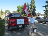 Owner -Tony Magill preparing for the Canada Day Parade in Airdrie.