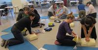 First-Aid4All students practicing their HCP/AED skills.