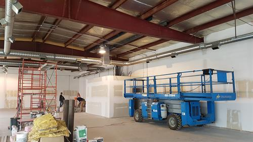 Tenant improvement in a Commercial Bay north of Airdrie