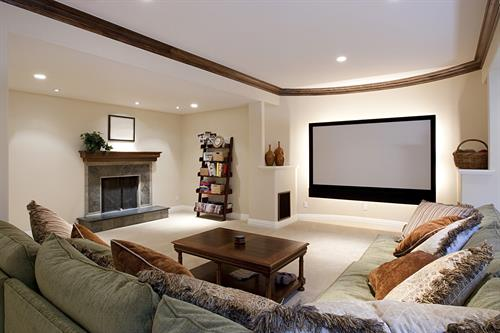 Add a family entertaining area in your home basement