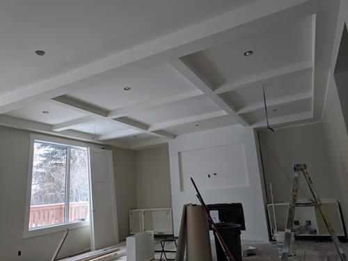 Beautifully renovated older home with a drywall tray ceiling Calgary