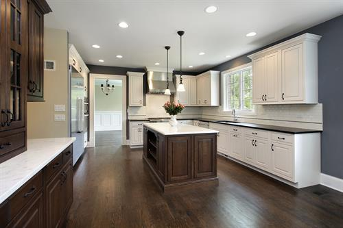 Level 5 smooth ceilings in a kitchen brighten your living space.
