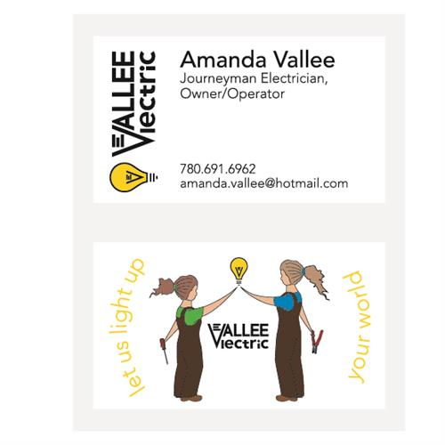 Vallee Electric Business Cards