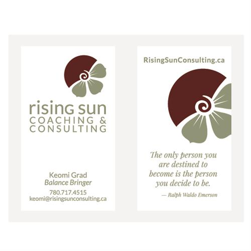 Rising Sun Coaching & Consulting Business Cards