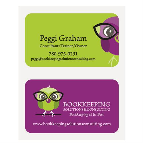 Bookkeeping Solutions & Consulting Business Cards
