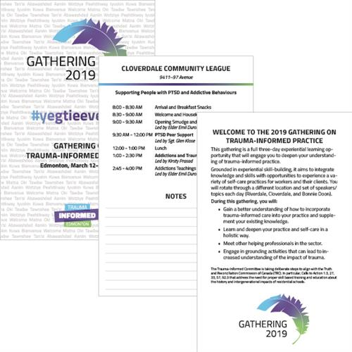 Trauma-Informed Edmonton Gathering 2019 Event Program Booklet