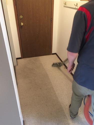 Carpet cleaning - high heat and extraction make a huge difference