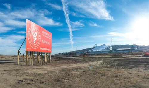 Greewich Village Calgary. Giant 36' Foot Billboard