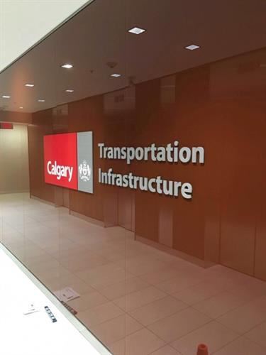 City of Calgary Dimensional Sign