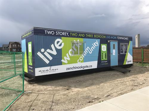 Chinook Gate Site Trailer Wrap Airdrie