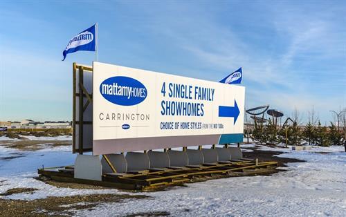 Mattamy Homes Large Skid Sign