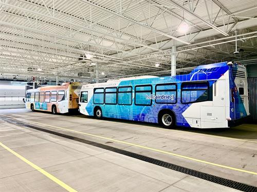City of Airdrie Transit Buses and Shuttles Wraps and Graphics