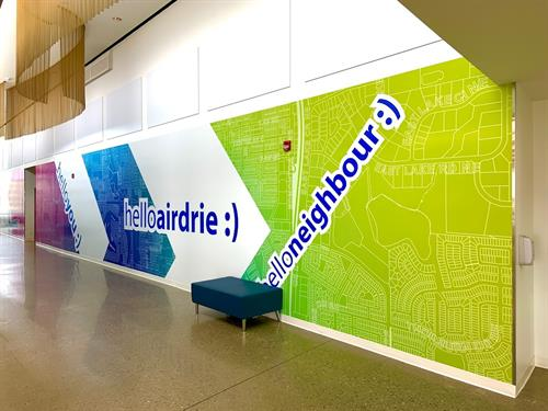 City of Airdrie Transit Facility Interior and Exterior Signs and Graphics