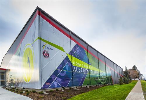Alberta Tennis Centre Exterior Building Wrap