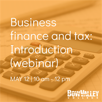 Member Event - Business finance and tax: introduction (webinar)