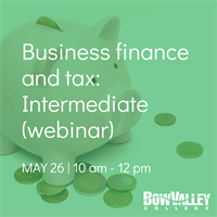 Member Event - Business finance and tax:  Intermediate (webinar)