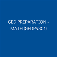 Member Event GED Preparation - Math (GEDP9301)