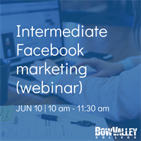 Member Event - Intermediate Facebook marketing (webinar)