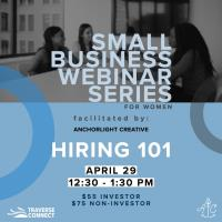 Small Business Series for Women: Hiring 101