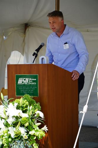 Groundbreaking Event 2020, US31 Branch - Josh Pearson, Project Manager with Neumann/Smith Architecture