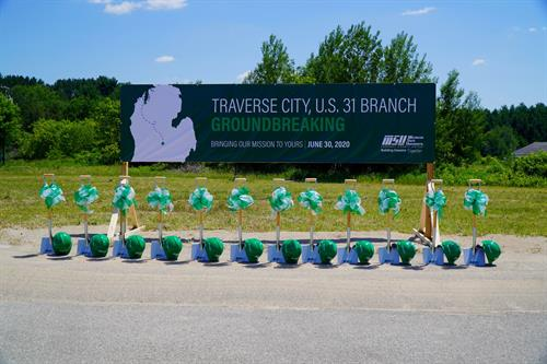 Groundbreaking Event 2020, US31 Branch - Preparing for the ceremonial dig