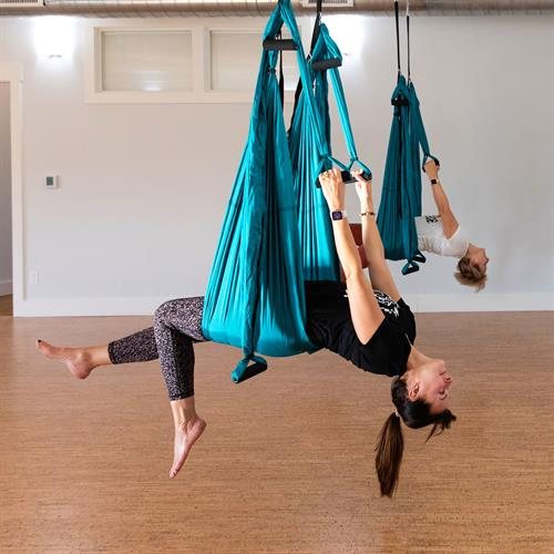 Aerial Yoga - so much fun and it feels amazing!