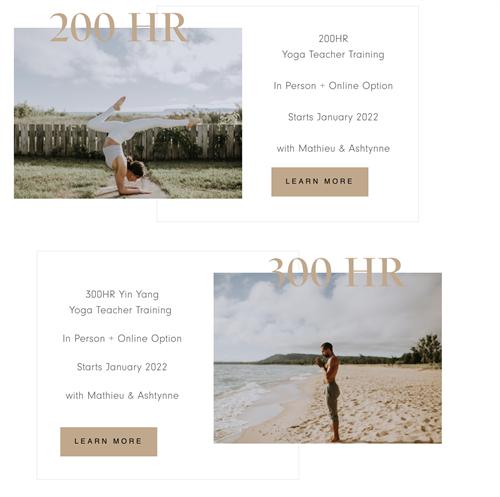 200 HR and 300 HR Yoga Teacher Training