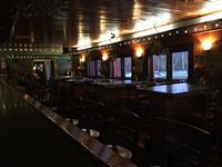 The short bar section - each table has a window