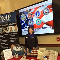 Ranee Gates at Veterans Career Fair & Hagerty Center Photo