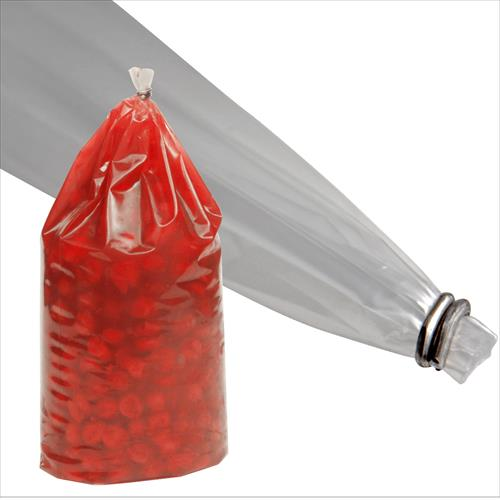 Cook Chill bags available in clear or colored film, as clipped, angle seal, heat angle seal, and handle bag options.