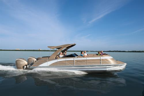 This could be you in your New 2021 Bennington Pontoon