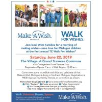 MAKE-A-WISH - WALK FOR WISHES EVENT JUNE 22