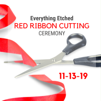 Red Ribbon Cutting & Networking at Everything Etched