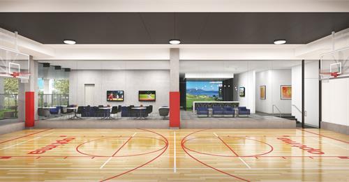 Optima Kierland Apartments | 7140 Basketball & Golf Simulator Rendering