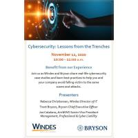 Cybersecurity: Lessons from the Trenches