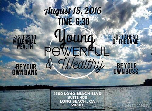 Most recent Young Powerful & Wealthy event held in the Bixby Knolls area for young professionals...
