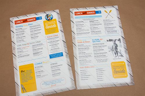 Custom Design & Printed Menus