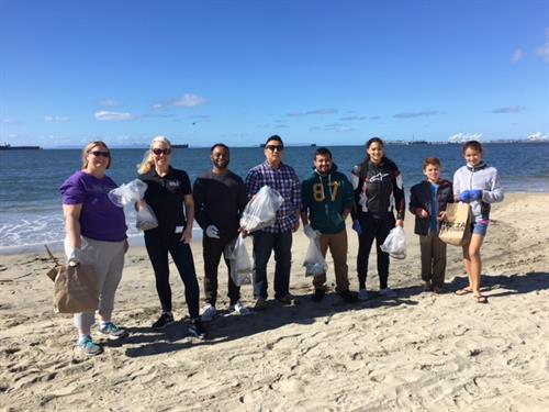 Beach clean-up with our National Society of Leadership & Success Students