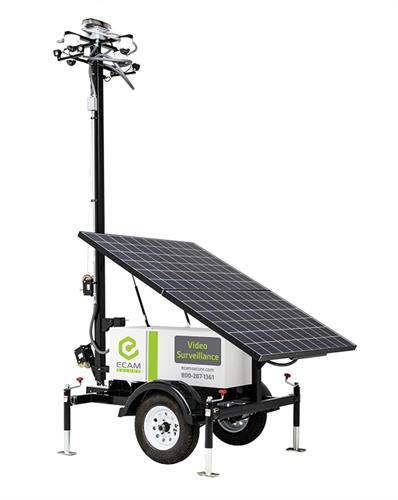 ECAMSECURE Mobile Surveillance Unit Solar Pro - 4 camera unit