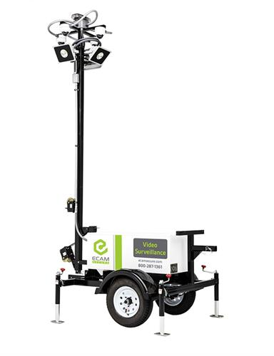 ECAMSECURE Mobile Surveillance Unit - 4 camera unit - plug in
