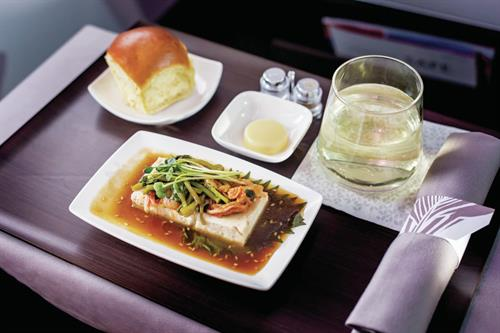 A321 Aircraft - First Class Meal Service