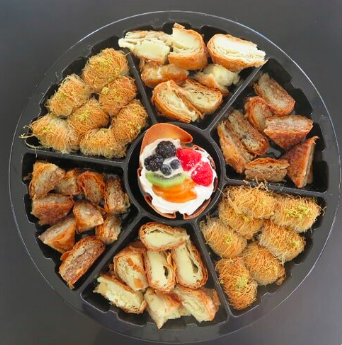 Baklava selection platter