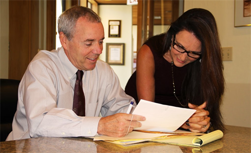 Long Beach Personal Injury Lawyer Michael D. Waks at work.