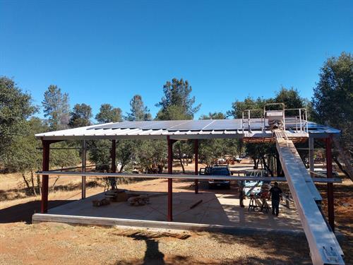 17kW residential garage metal roof, Redding CA