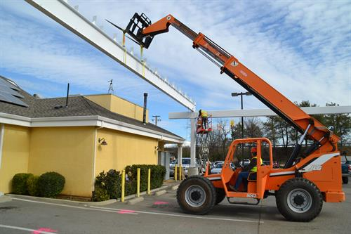 73kW carport, Anderson CA - Installing Modular Racks
