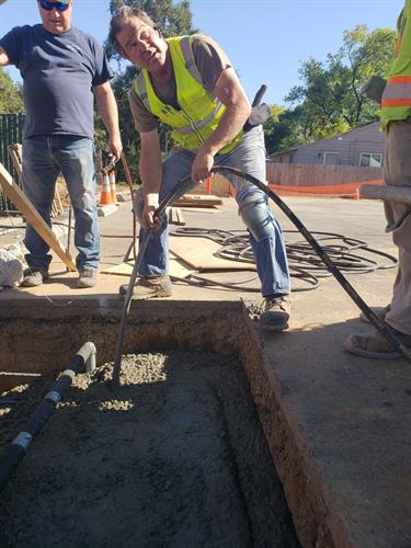 73kW carport, Anderson CA - Pouring Foundations