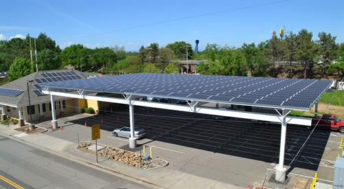 95kW carport, Anderson CA - high angle view