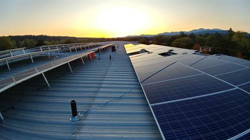 73kW commercial rooftop, Redding CA - Sunset